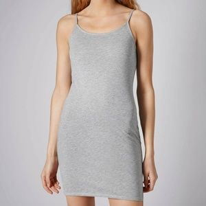 NWT Topshop Strappy Cami Tunic Dress Gray Size 8